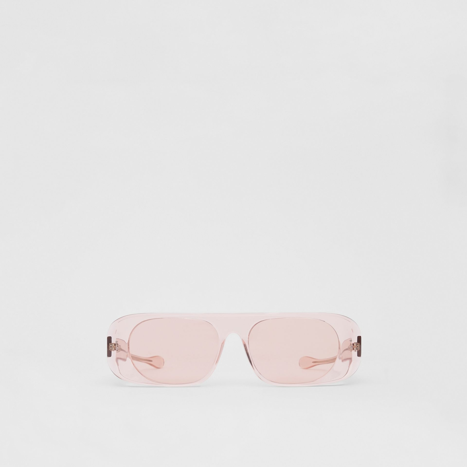 Blake Sunglasses in Transparent Pink | Burberry - gallery image 0