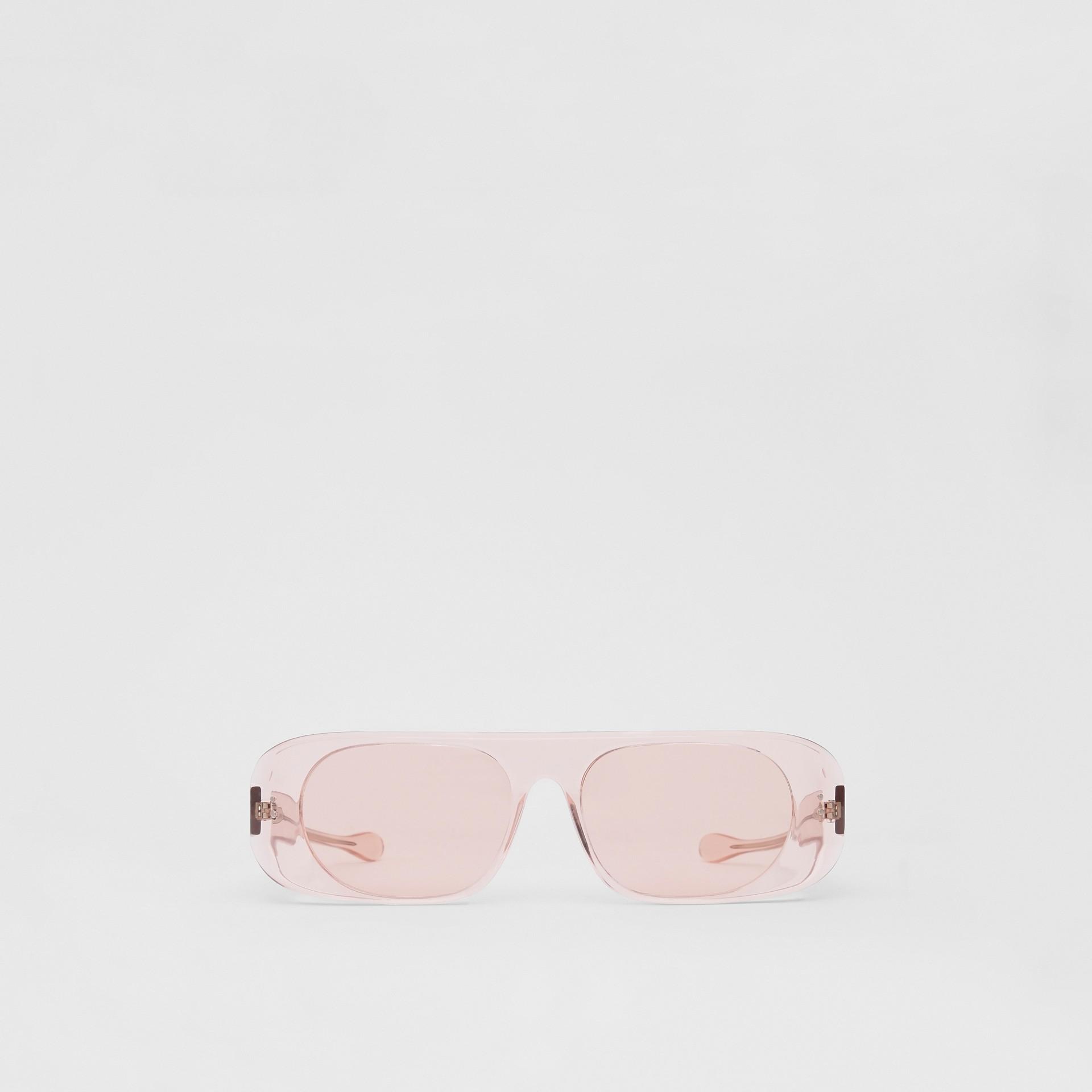 Blake Sunglasses in Transparent Pink | Burberry Australia - gallery image 0