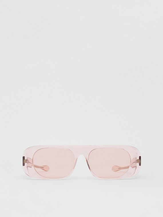 Blake Sunglasses in Transparent Pink