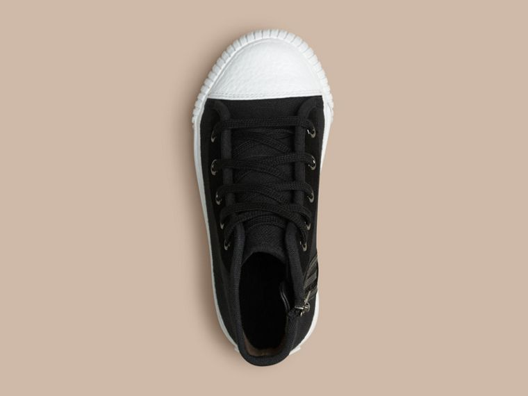 Black High-top Canvas Trainers - cell image 1