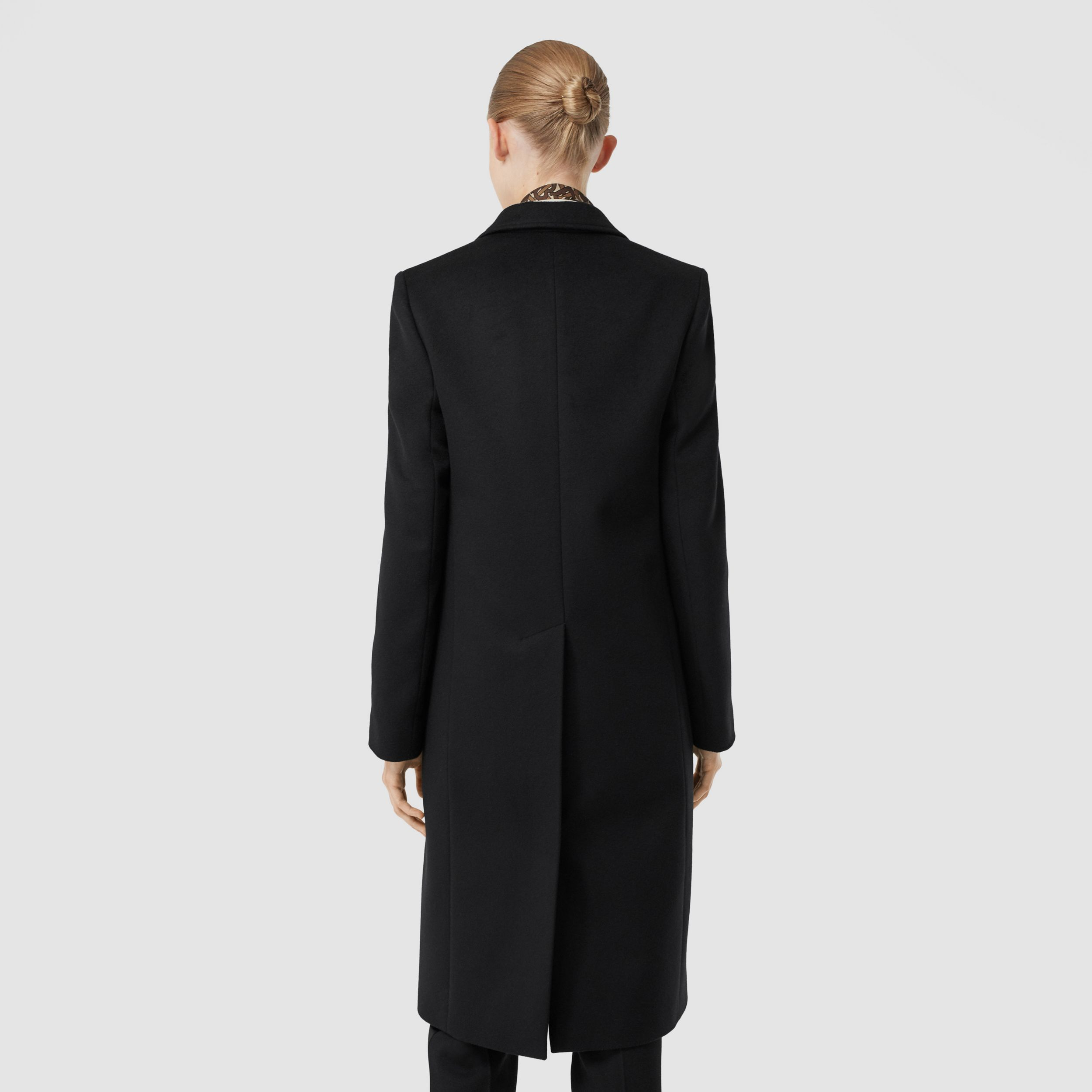 Wool Cashmere Tailored Coat in Black - Women | Burberry - 3