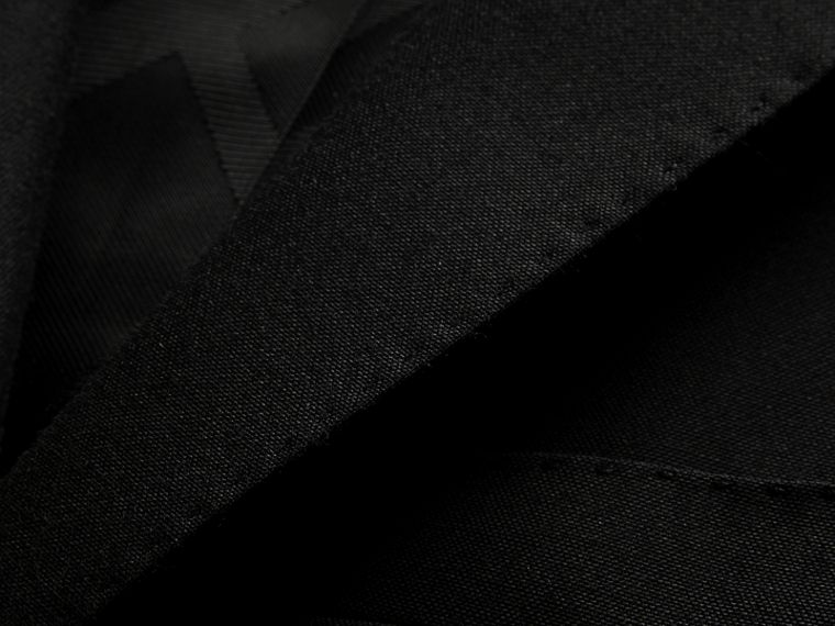 Black Slim Fit Wool Part-canvas Suit Black - cell image 1