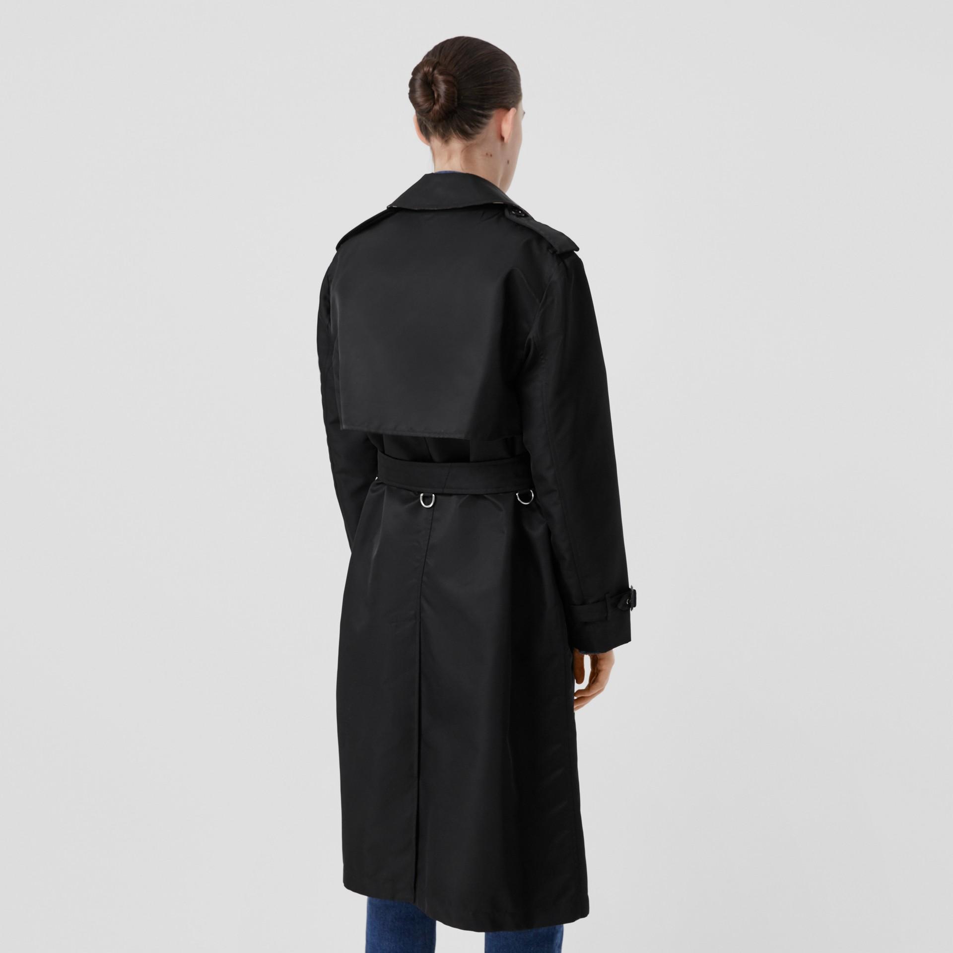 Nylon Twill Trench Coat in Black - Women | Burberry Australia - gallery image 2