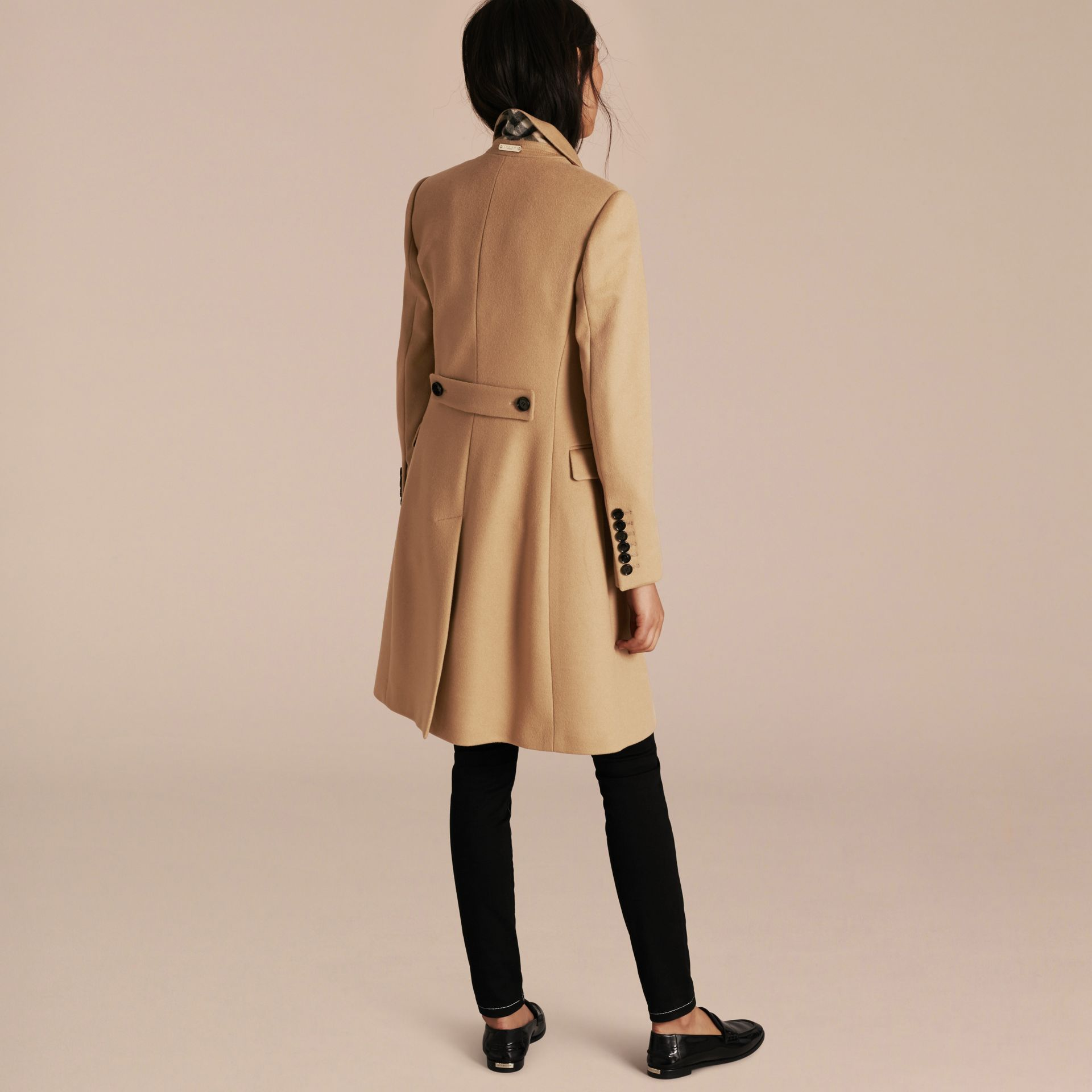 Camel Tailored Wool Cashmere Coat Camel - gallery image 3