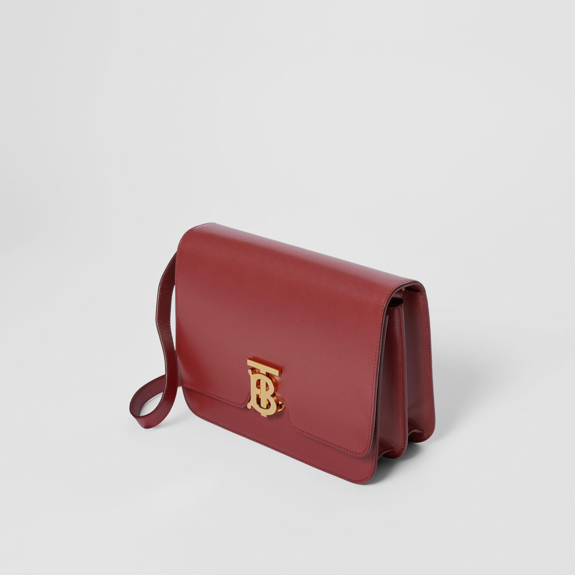 Medium Leather TB Bag in Crimson - Women | Burberry United Kingdom - gallery image 3