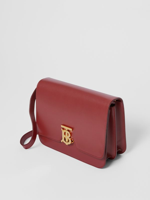 Medium Leather TB Bag in Crimson - Women | Burberry - cell image 3