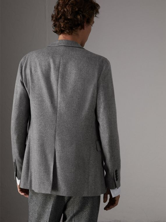 Soho Fit Cashmere Tailored Jacket in Mid Grey Melange - Men | Burberry Australia - cell image 2