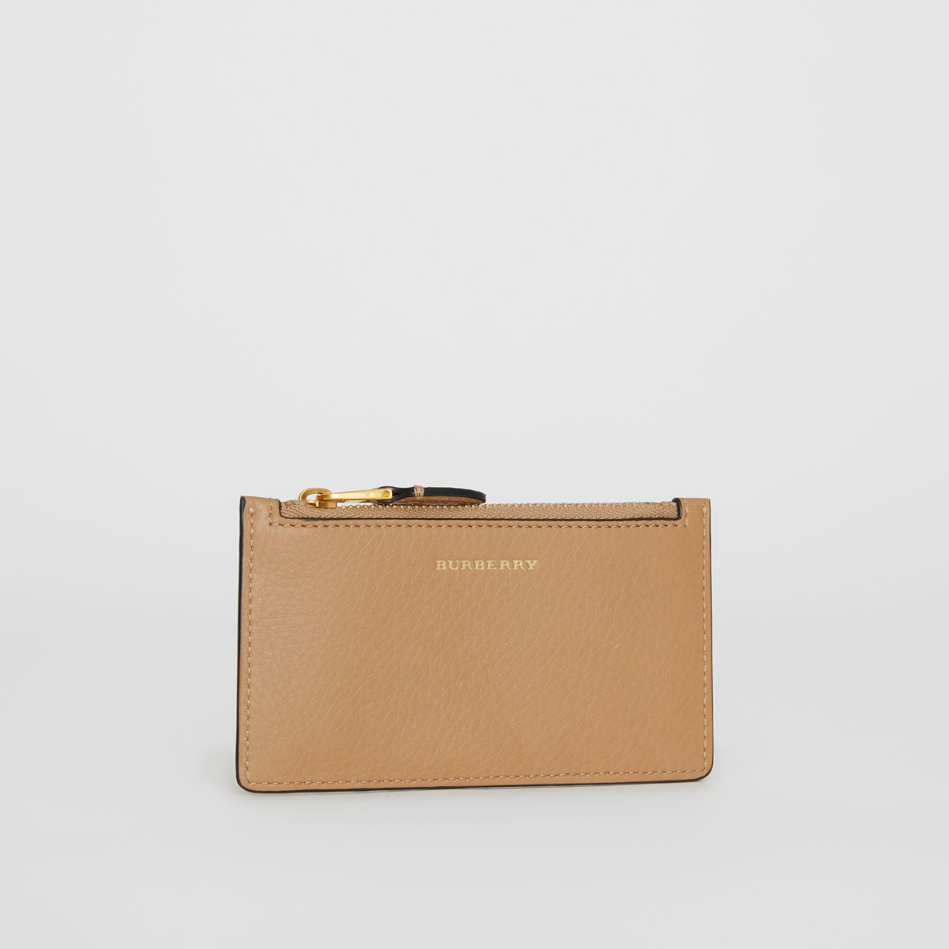Two-tone Leather Card Case in Light Camel - Women | Burberry Singapore - gallery image 4