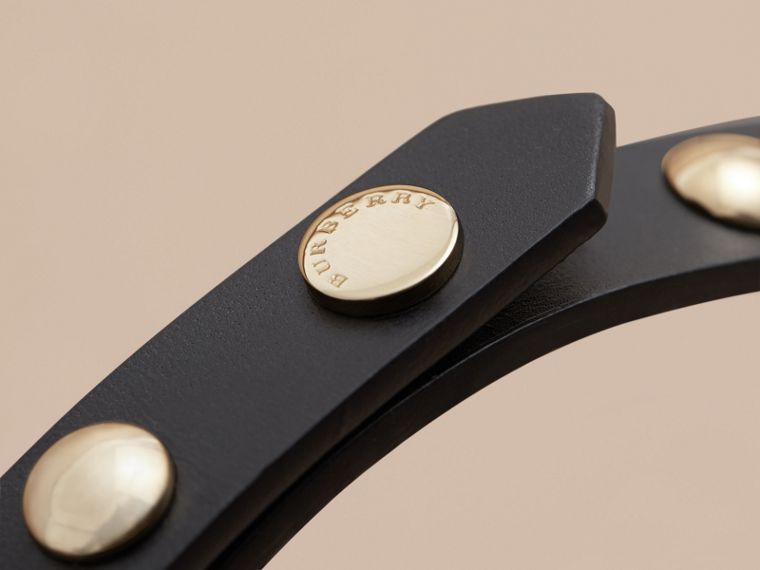 Studded Bridle Leather Double-wrap Belt in Black - cell image 1