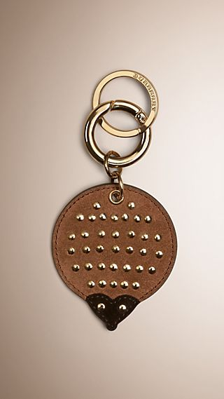 Hedgehog Key Charm in Leather and Suede