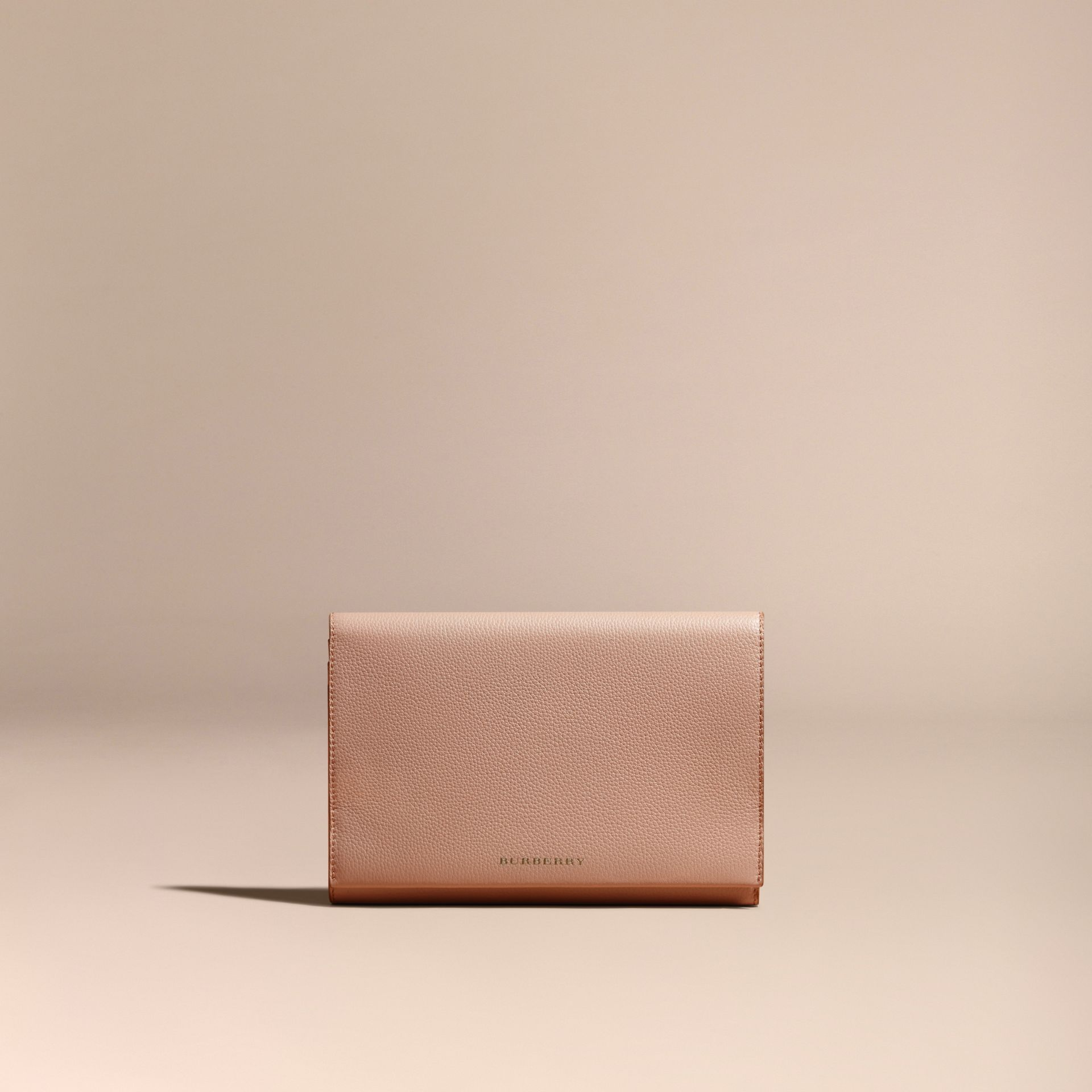 Pale apricot Grainy Leather Travel Wallet Pale Apricot - gallery image 6