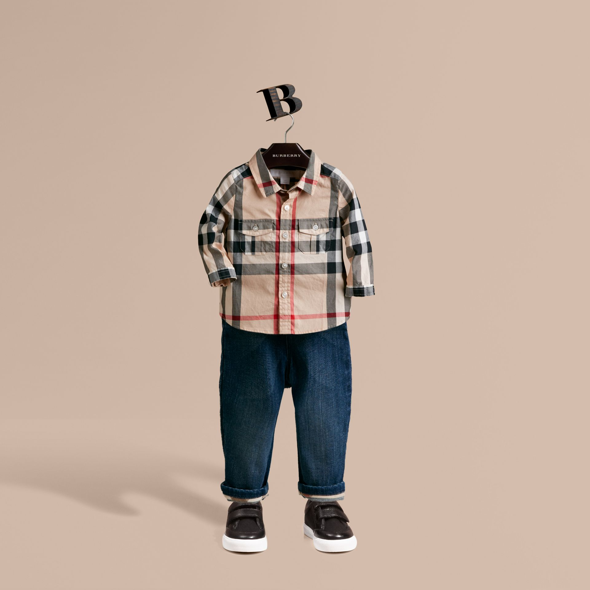 Check Cotton Shirt in New Classic - Boy | Burberry Hong Kong - gallery image 1