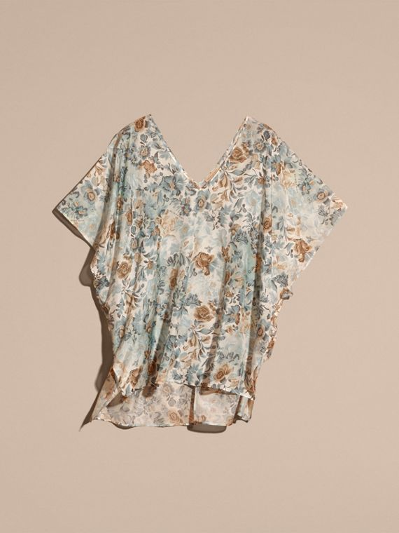 Garden Floral Cotton Silk Swimwear Cover-up - cell image 3