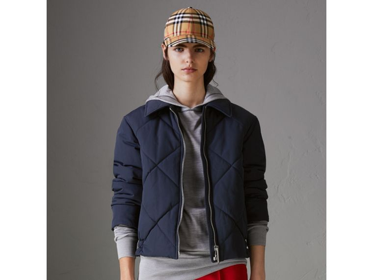 Quilted Technical Cotton-blend Jacket in Navy - Women | Burberry - cell image 4