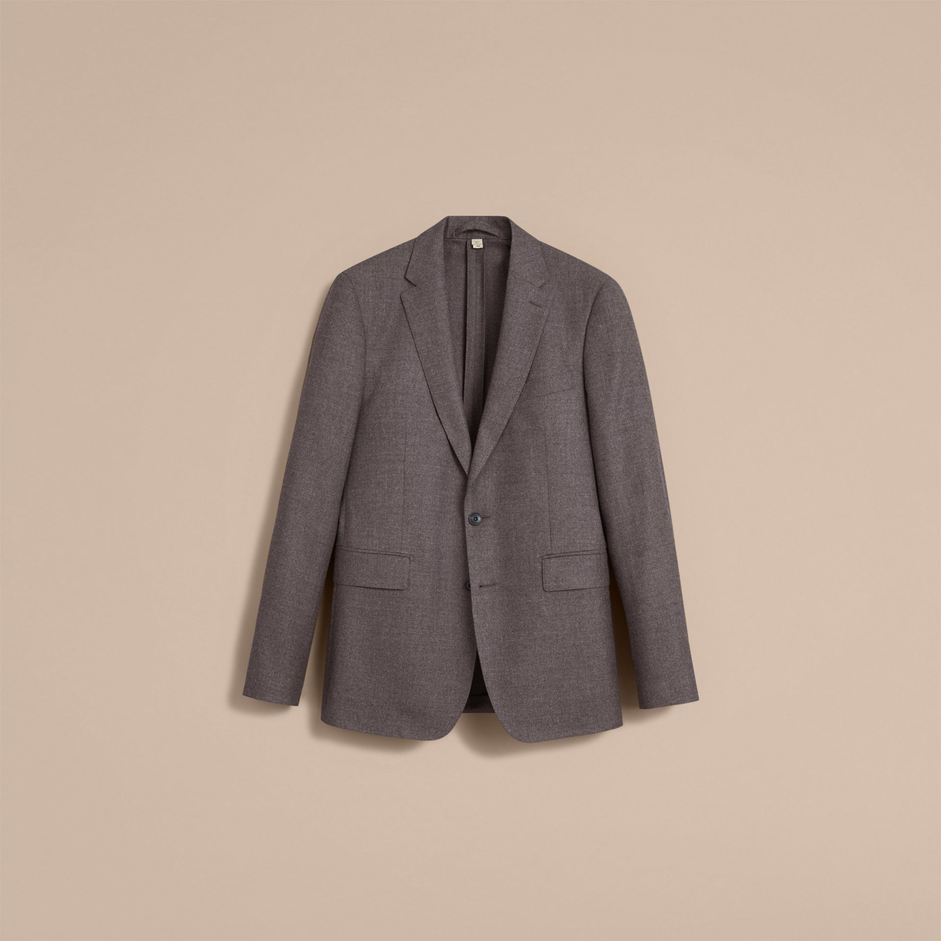 Soho Fit Wool Flannel Suit in Dark Charcoal Melange - Men | Burberry Australia - gallery image 4