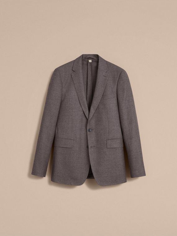 Soho Fit Wool Flannel Suit in Dark Charcoal Melange - Men | Burberry - cell image 3