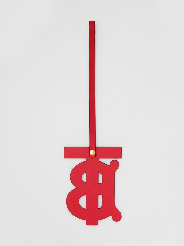 Monogram Motif Leather Charm in Red | Burberry - cell image 2