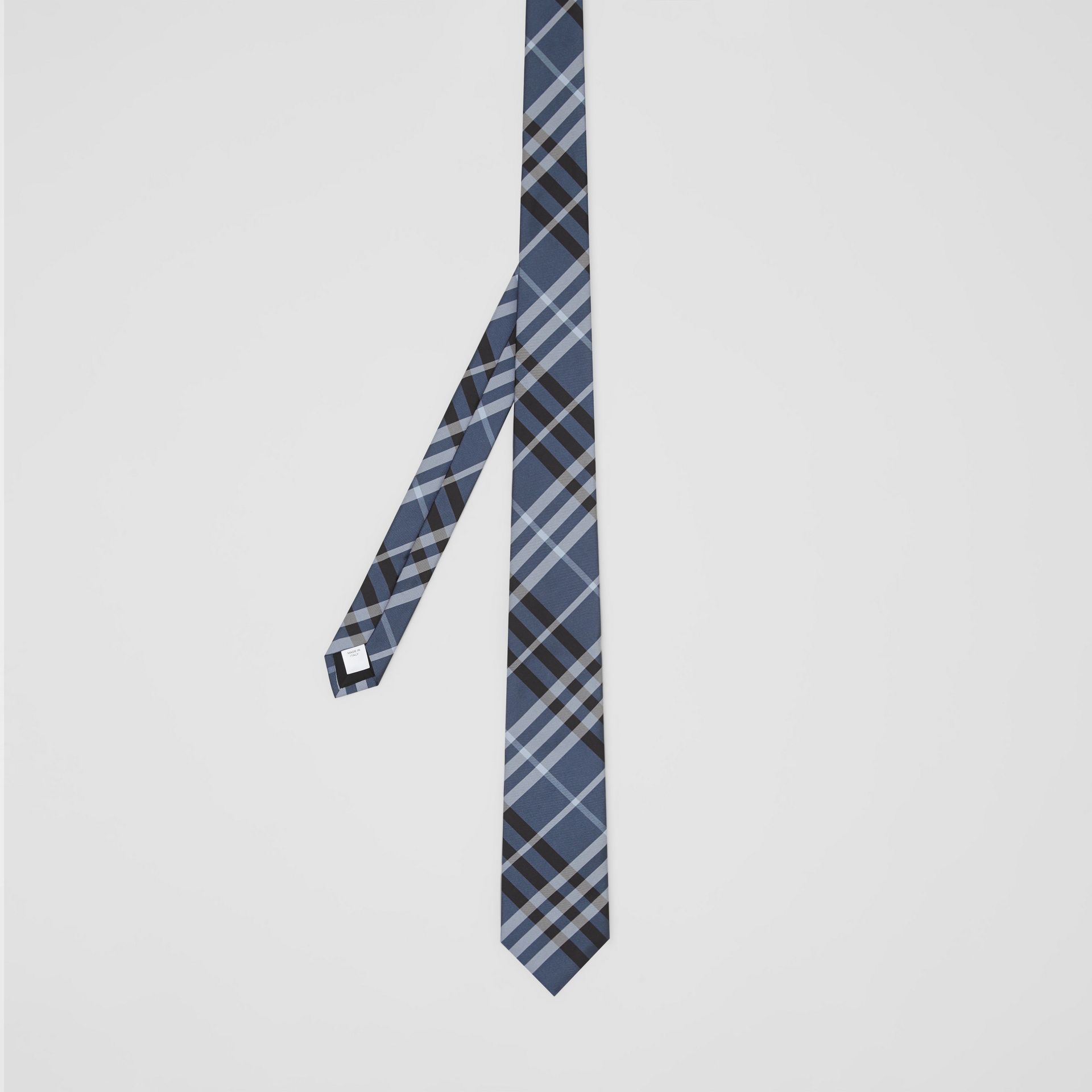 Classic Cut Vintage Check Silk Tie in Steel Blue - Men | Burberry Hong Kong S.A.R - gallery image 4