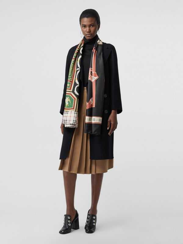 Archive Scarf Print Silk Scarf in Multicolour | Burberry - cell image 2