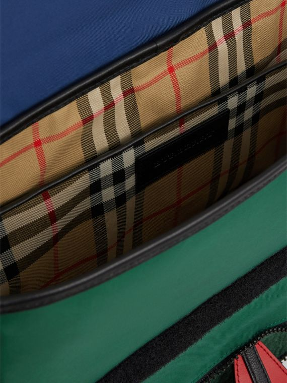 Monster Faux Shearling and Vintage Check Satchel in Pine Green | Burberry - cell image 3