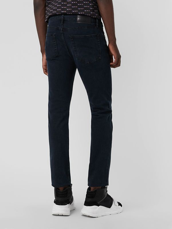 Straight Fit Stretch Denim Jeans in Dark Indigo - Men | Burberry Canada - cell image 2