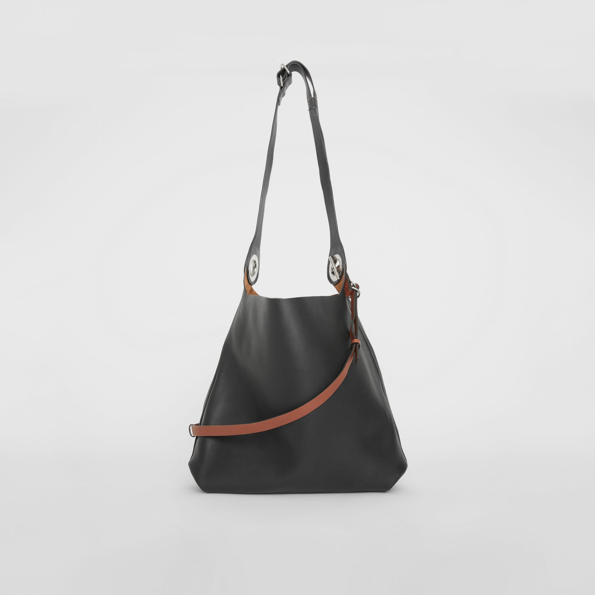 Кожаная сумка с люверсами (Черный) - Для женщин | Burberry - изображение 7