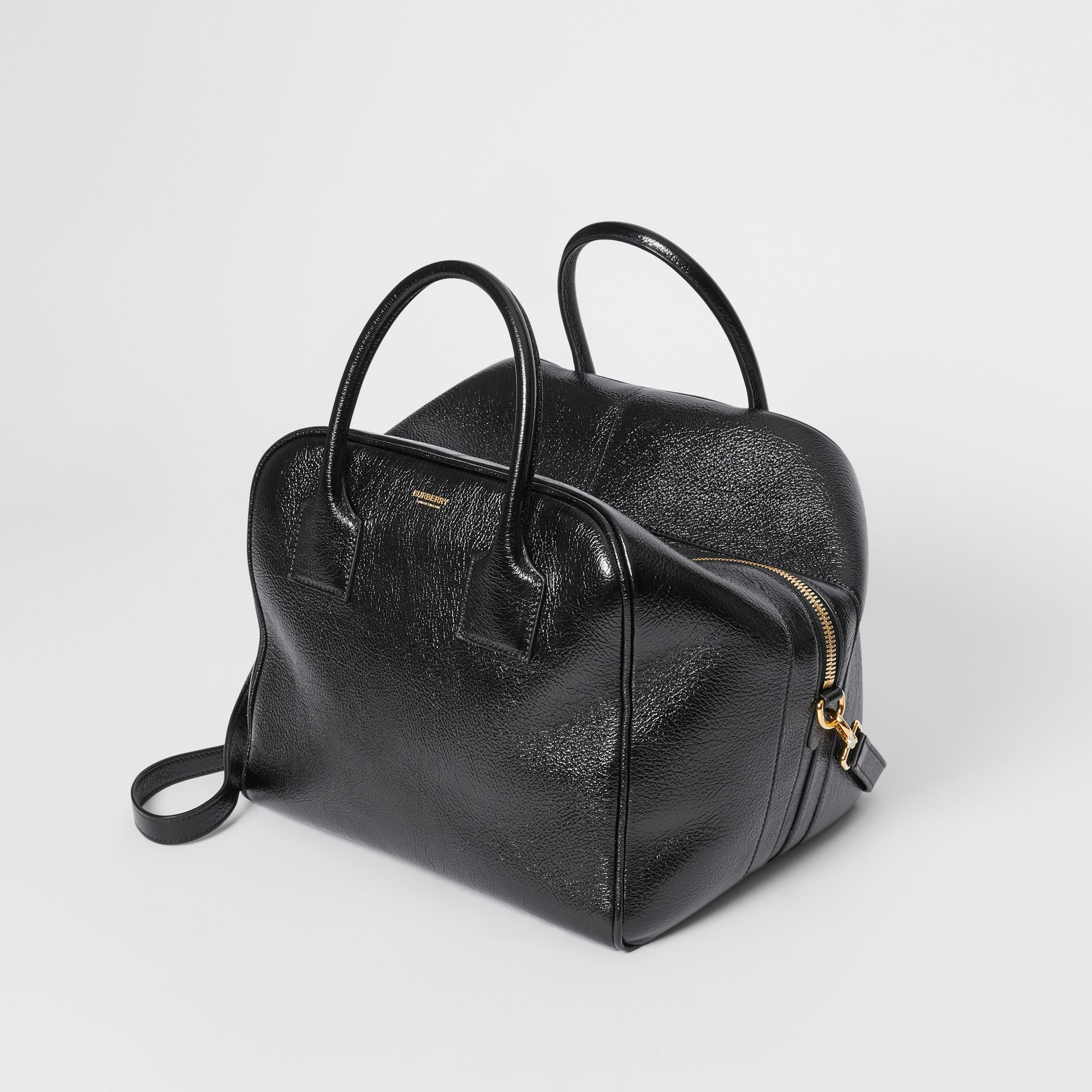 Medium Lambskin Cube Bag in Black - Women | Burberry Canada - gallery image 3