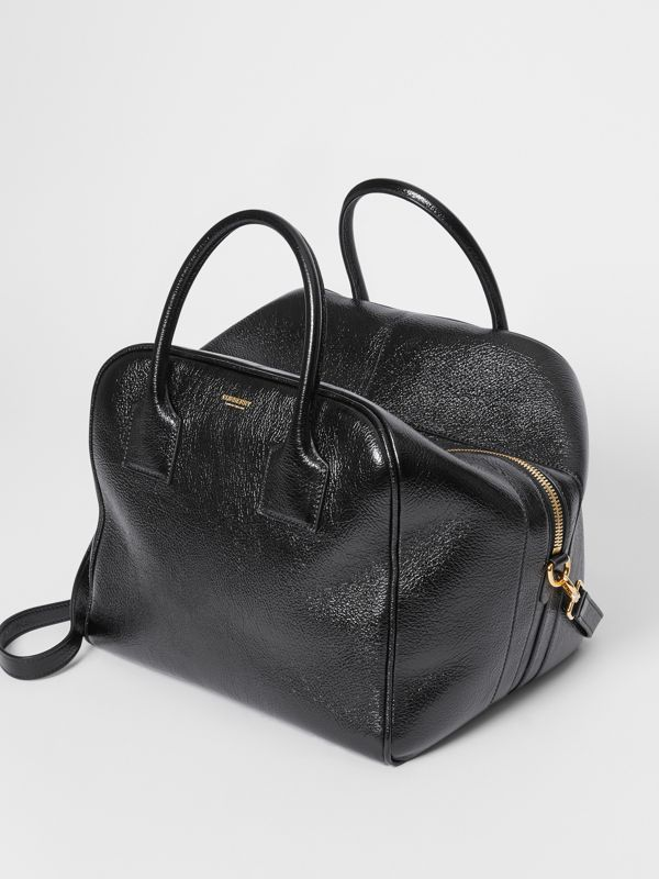 Medium Lambskin Cube Bag in Black - Women | Burberry Canada - cell image 3