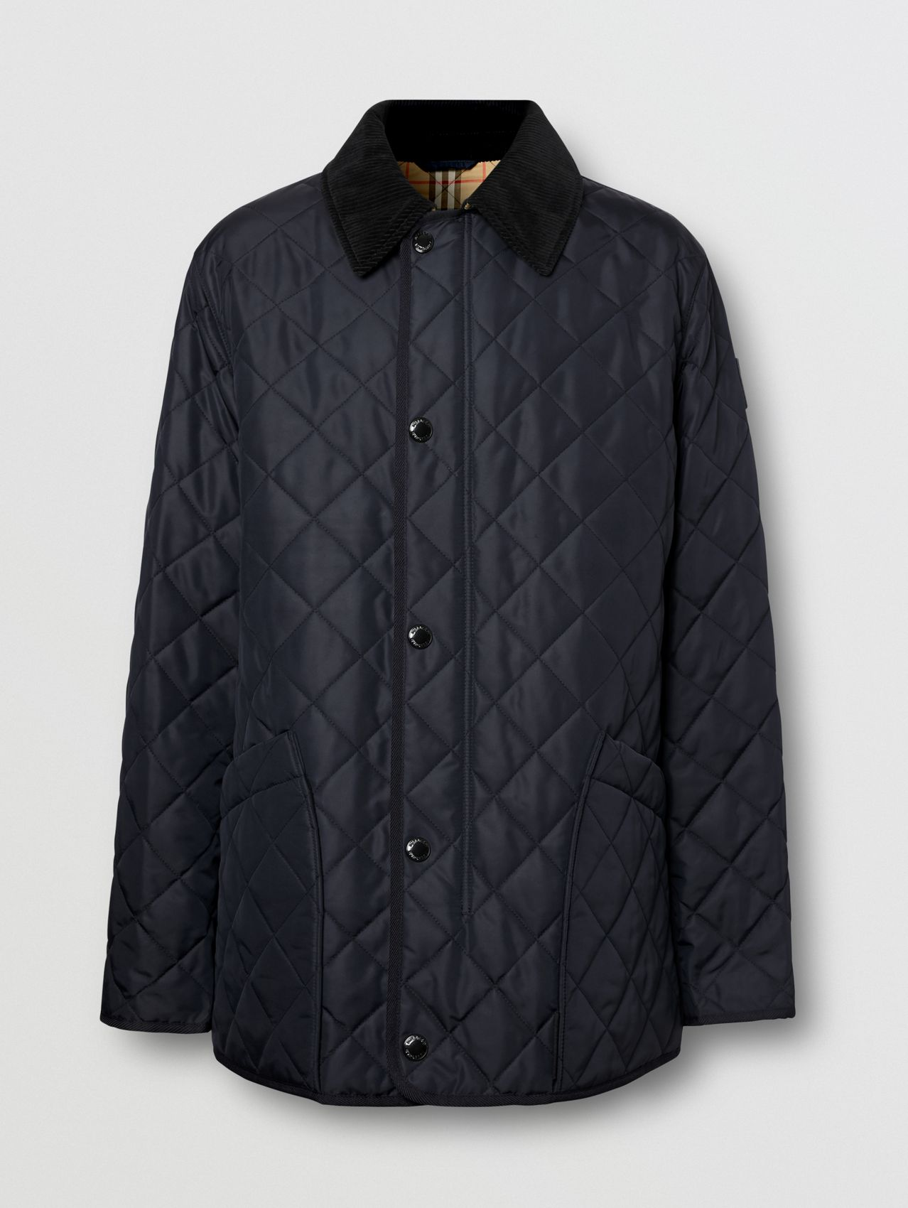 Diamond Quilted Thermoregulated Barn Jacket (Navy)