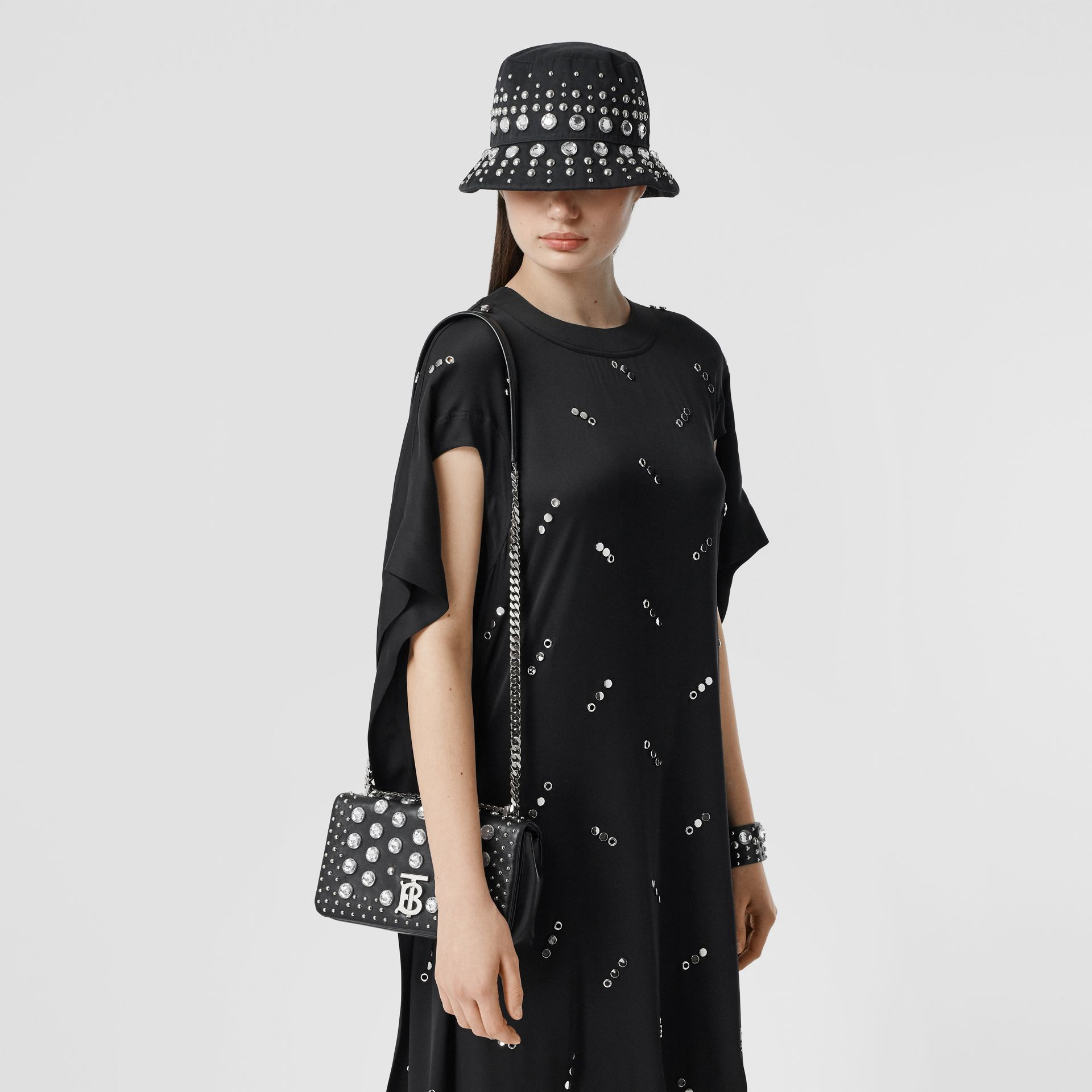 Small Embellished Lambskin Lola Bag in Black - Women | Burberry - gallery image 2