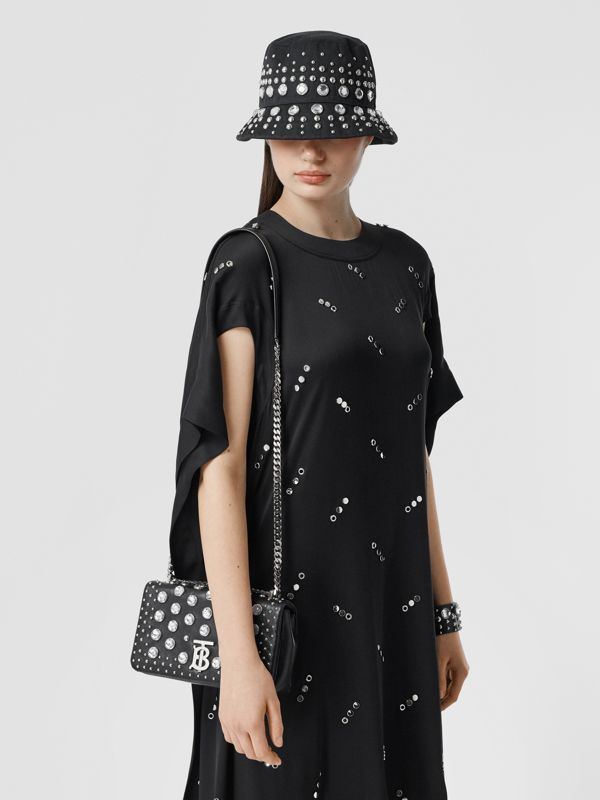 Small Embellished Lambskin Lola Bag in Black - Women | Burberry - cell image 2