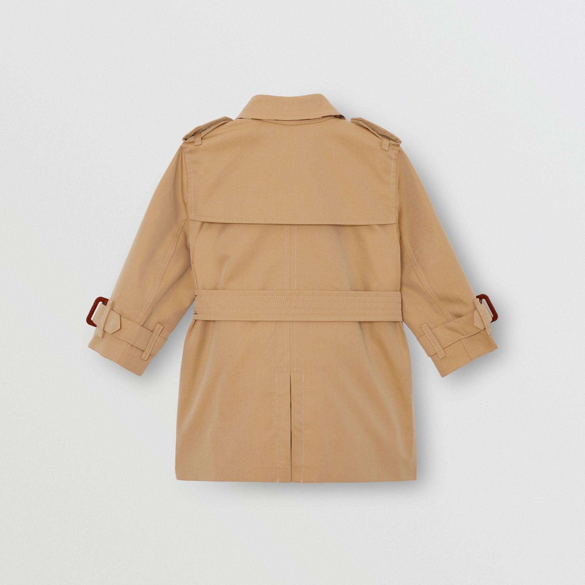 Cotton Gabardine Trench Coat in Honey - Children | Burberry United Kingdom - gallery image 3