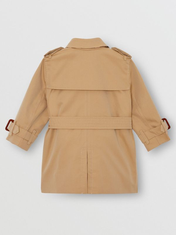 Cotton Gabardine Trench Coat in Honey - Children | Burberry - cell image 3