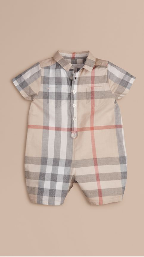 Classic check Check Cotton Playsuit Classic - Image 1