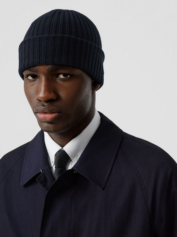The Camden Car Coat in Blue Carbon - Men | Burberry Canada - cell image 1