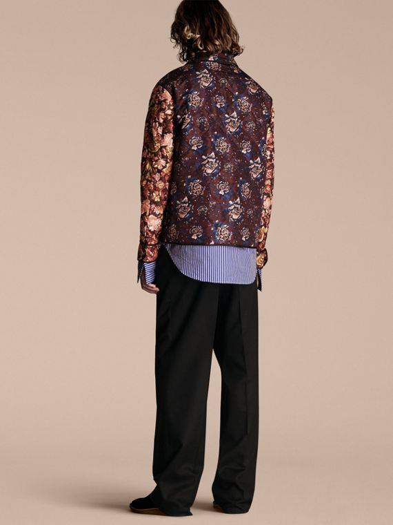 Peony Rose Print Quilted Jacket - cell image 2