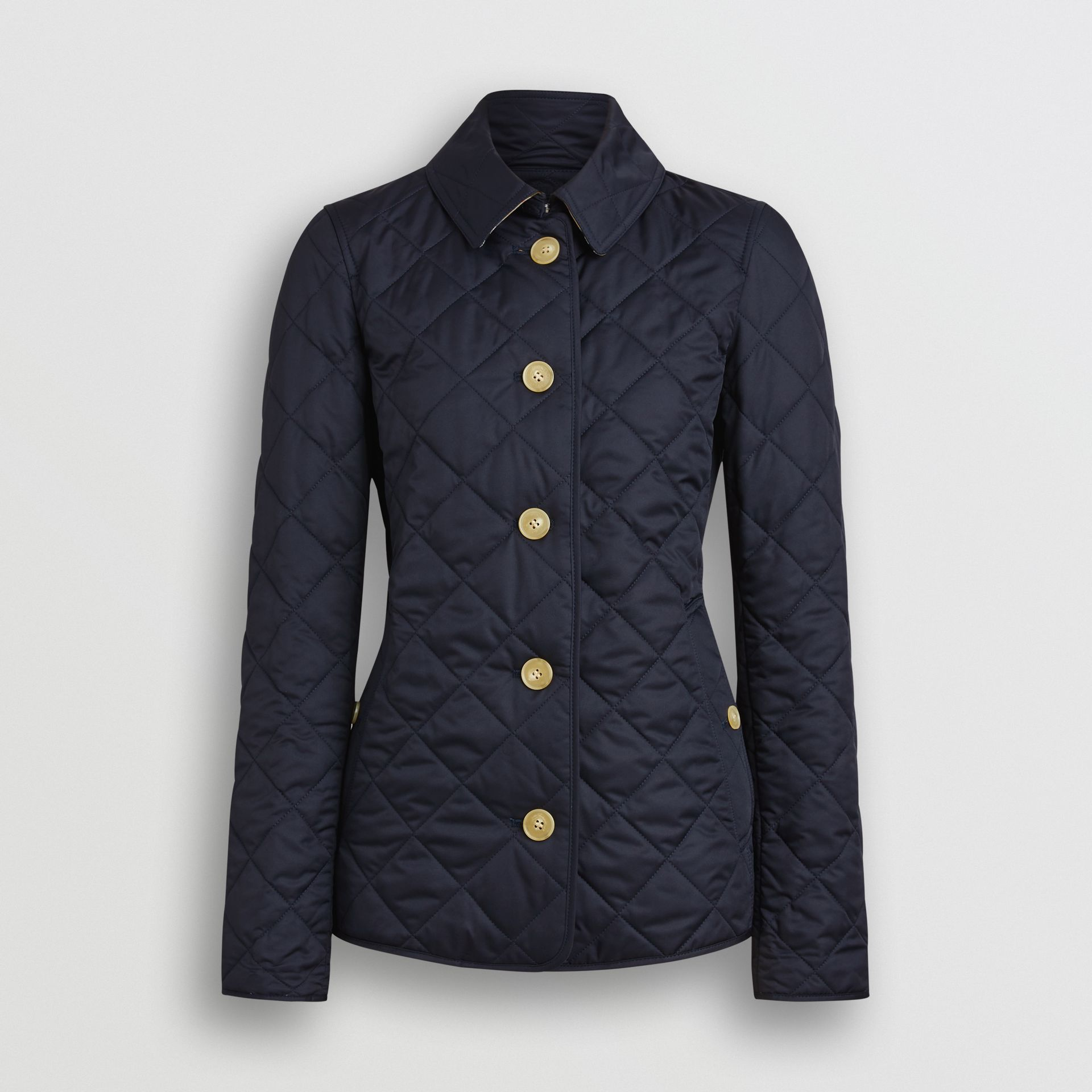Diamond Quilted Jacket in Navy - Women | Burberry United Kingdom - gallery image 3