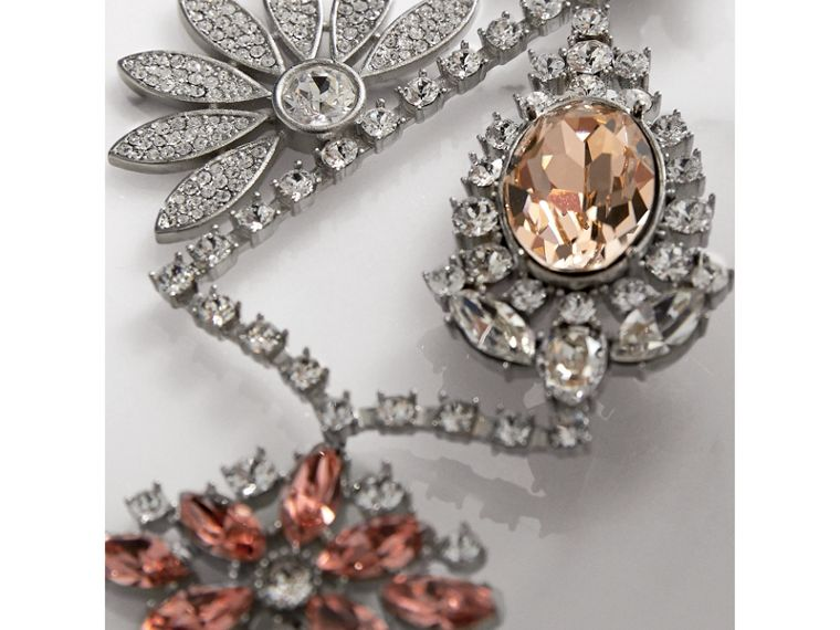 Crystal Daisy Chandelier Earring and Stud Set in Rose - Women | Burberry - cell image 1