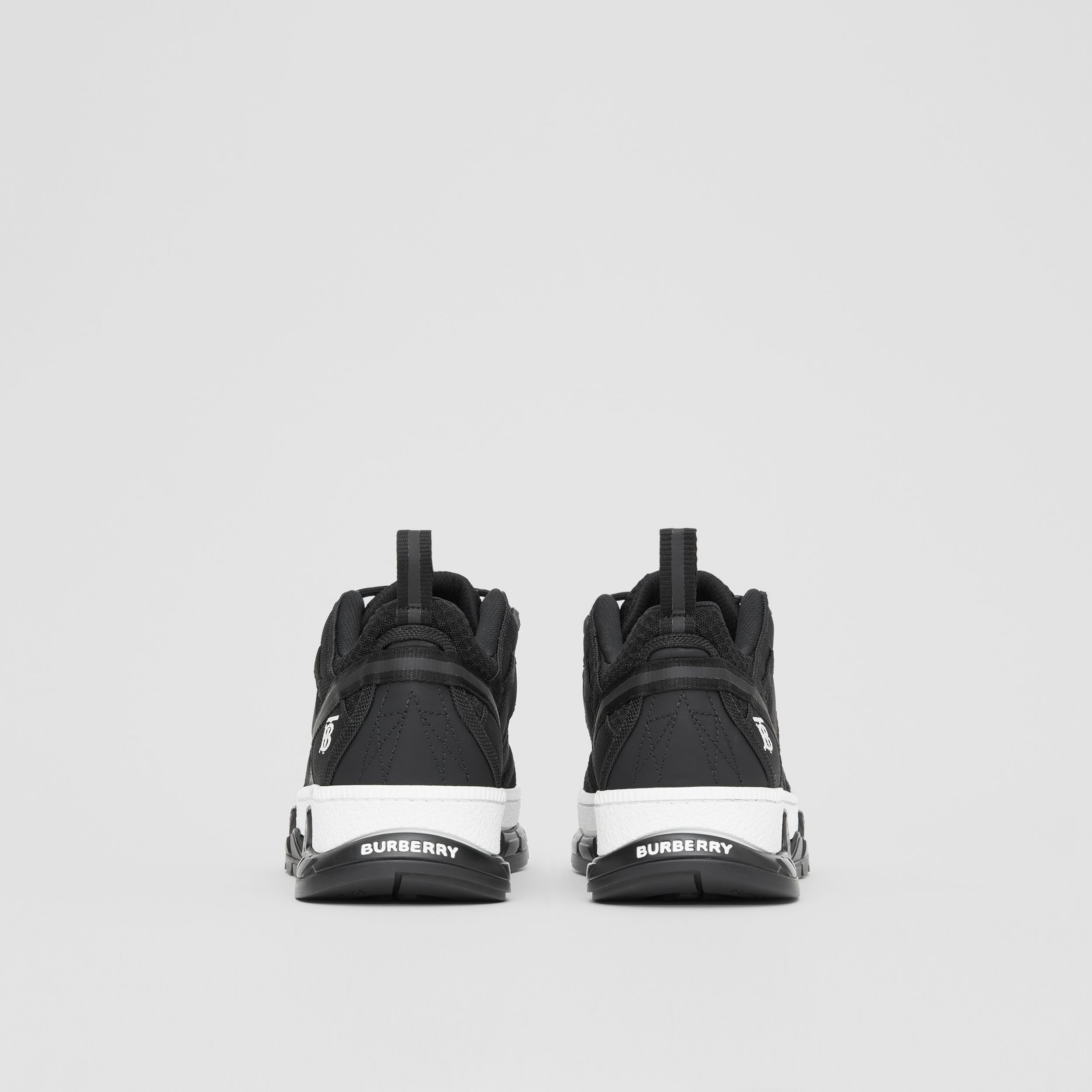 Mesh and Nubuck Union Sneakers in Black - Men | Burberry - 4