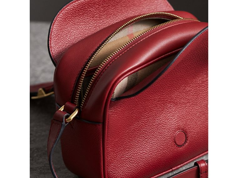 The Small Buckle Crossbody Bag in Leather in Parade Red - Women | Burberry - cell image 4