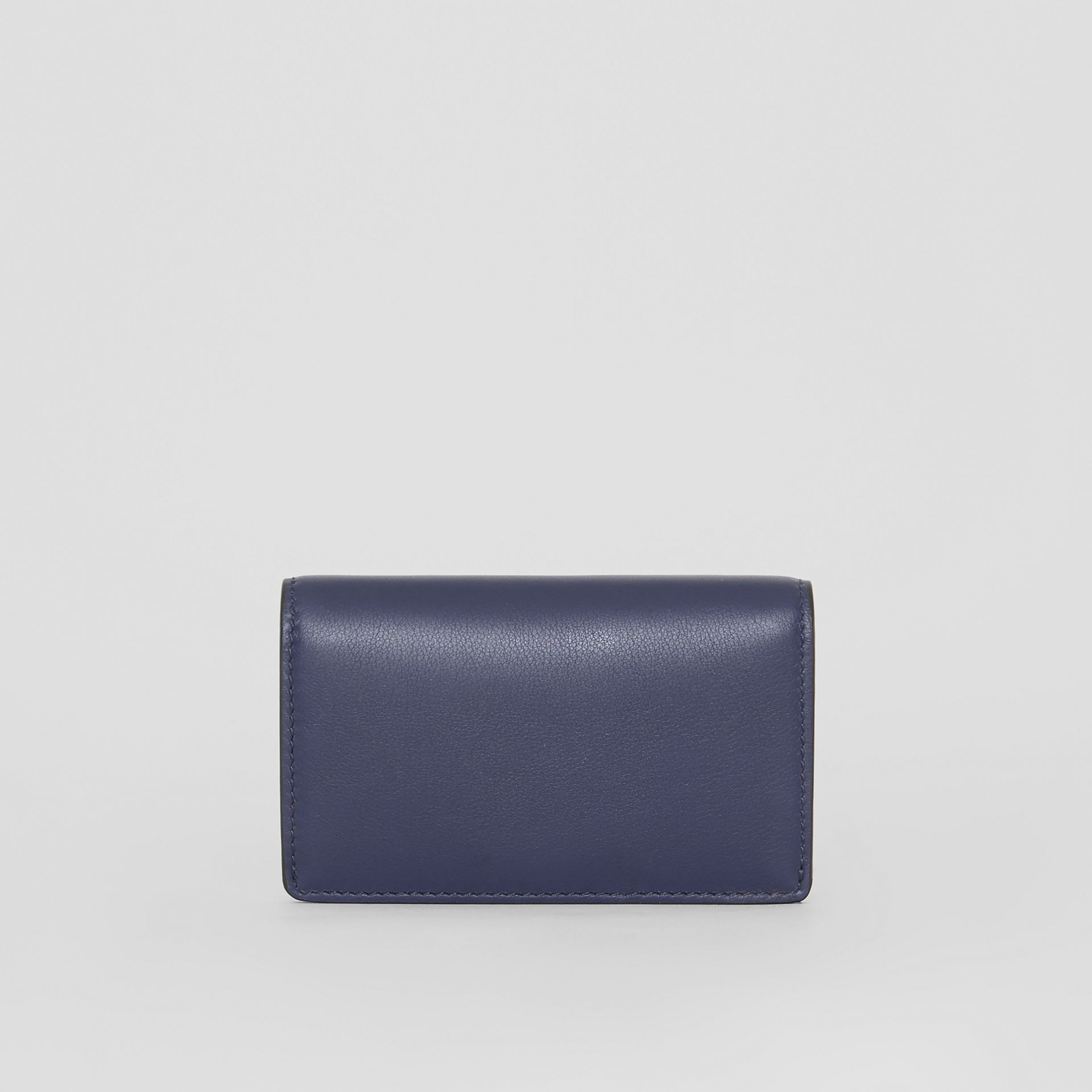 Small Embossed Crest Two-tone Leather Wallet in Regency Blue - Women | Burberry - gallery image 2