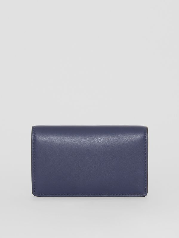 Small Embossed Crest Two-tone Leather Wallet in Regency Blue - Women | Burberry - cell image 2