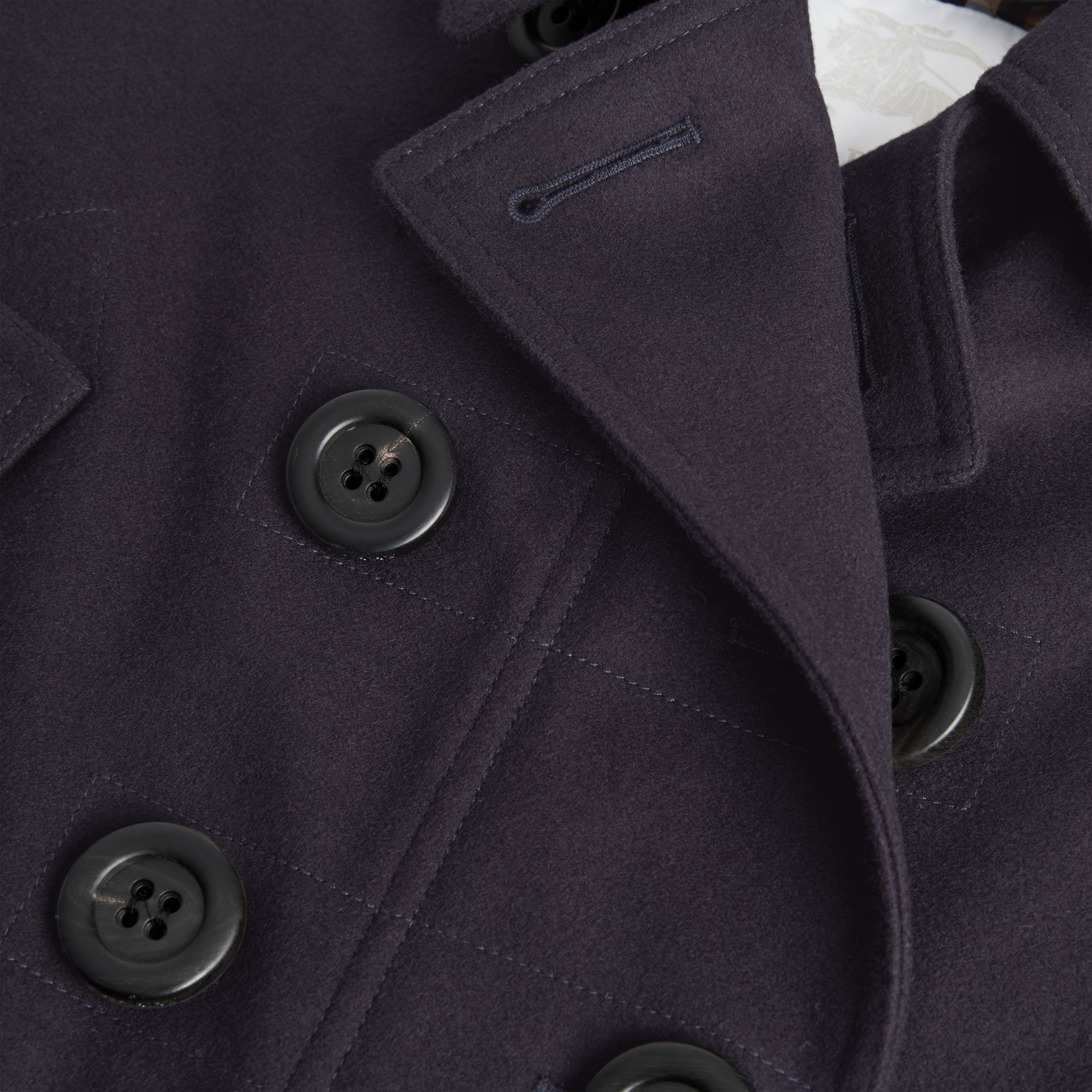 Wool Pea Coat Cape in Navy | Burberry - gallery image 1