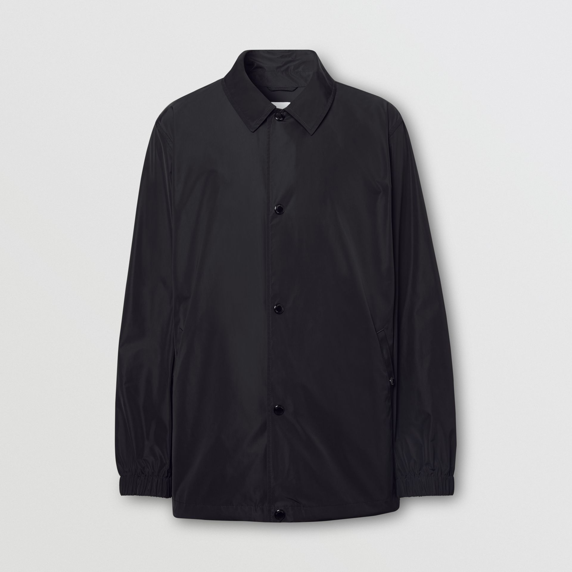 Tape Print Shape-memory Taffeta Jacket in Black - Men | Burberry Hong Kong S.A.R - gallery image 3