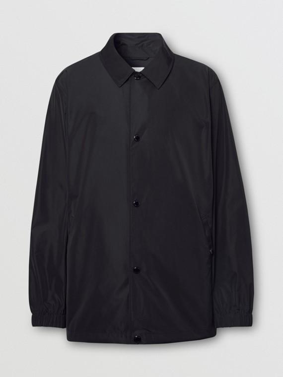 Tape Print Shape-memory Taffeta Jacket in Black