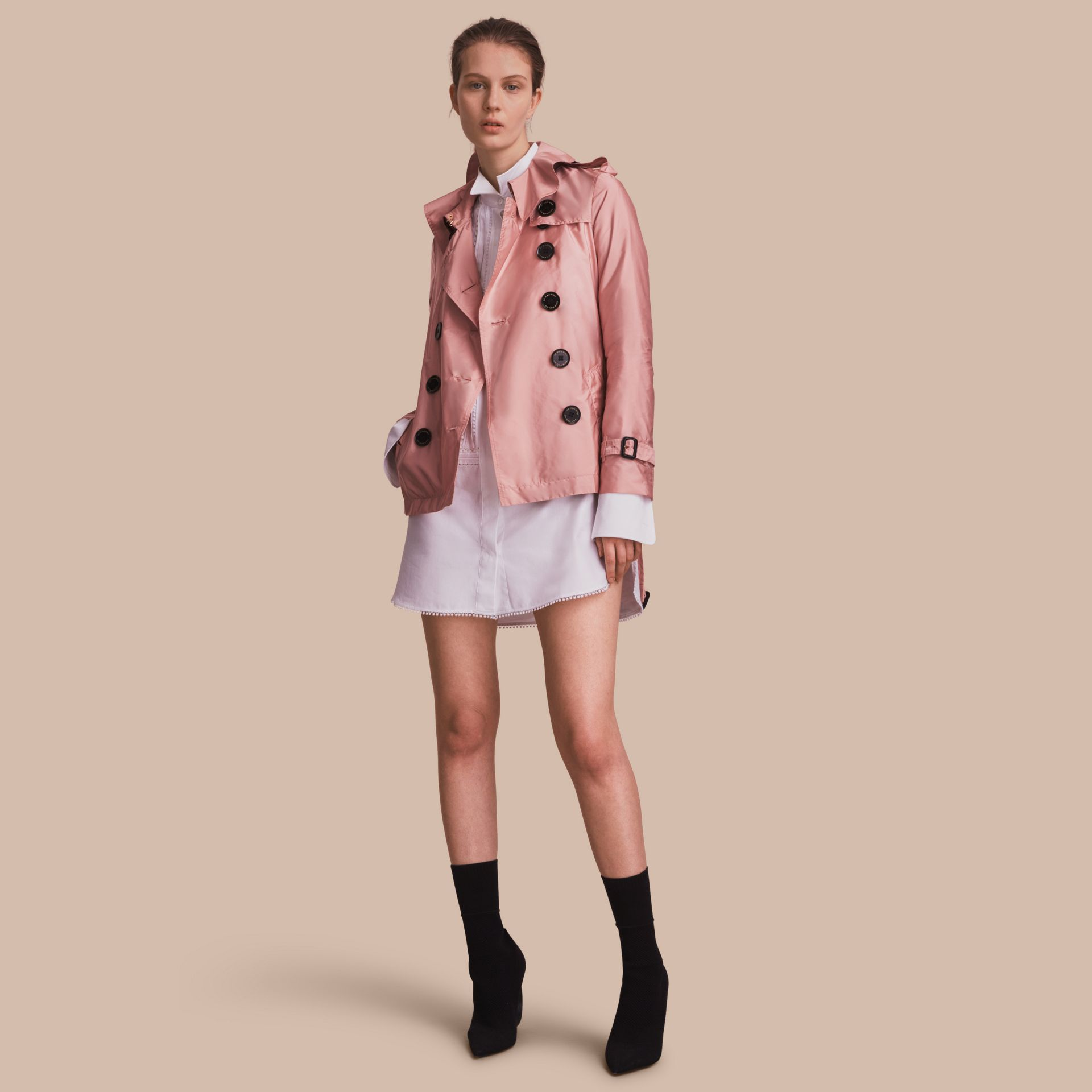 Showerproof Trench Coat in Antique Rose - Women | Burberry United Kingdom - gallery image 1