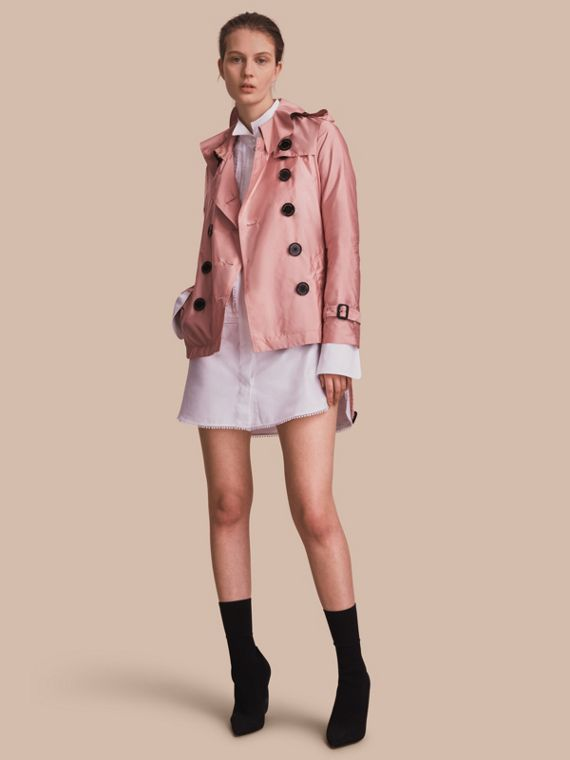 Showerproof Trench Coat in Antique Rose