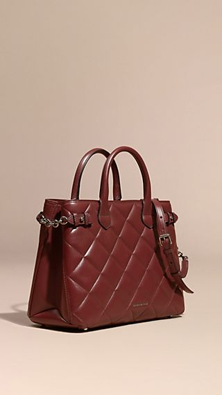 The Medium Banner in Quilted Leather