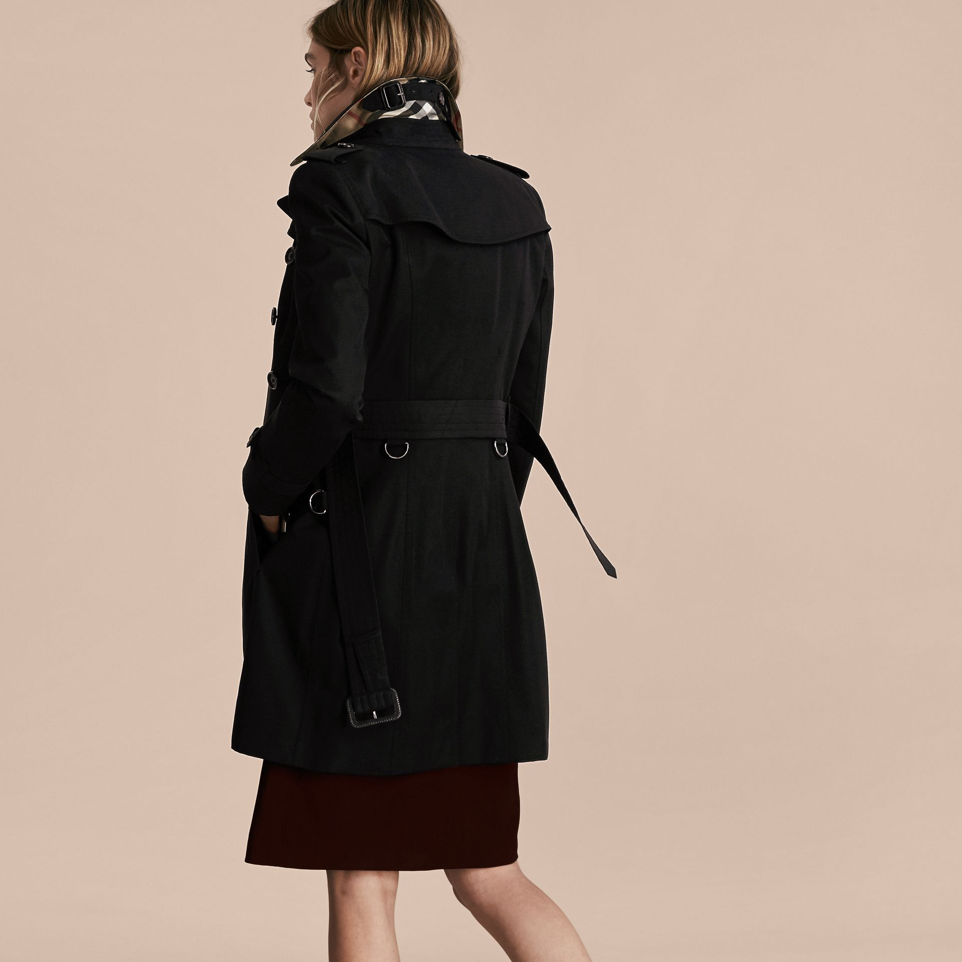 Black The Chelsea – Mid-length Heritage Trench Coat Black - gallery image 3