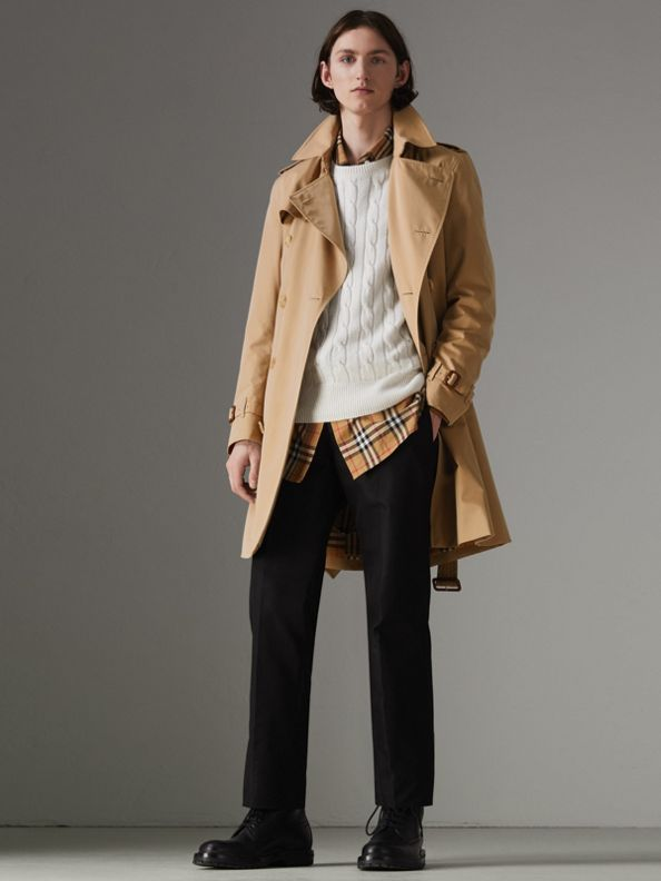 The Kensington Heritage Trench Coat in Honey